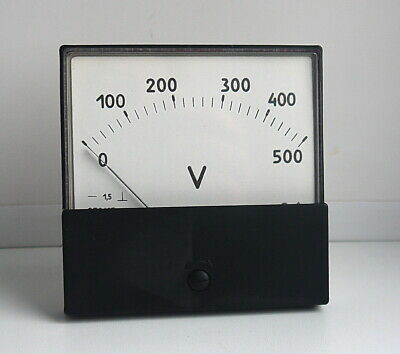 DC 0-500V Analog Dial panel Voltage Gauge Volt meter , USSR,  Lot of 1 pcs 3