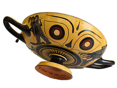 Black figure Kylix With Dionysus crossing the sea- Exekias-Munich Museum Replica 5