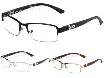 Half Rim Men Women DG Eyewear Clear Lens Frame Eye Glasses Designer Fashion Nerd