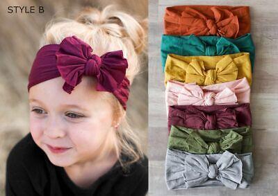 Baby Nylon Soft Bow Head Wrap Turban Top Knot Headband Newborn Girl Accessories 3