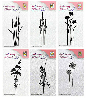 Silhouette Nellie Snellen Clear Cling Stamp SIL021 Spring flowers