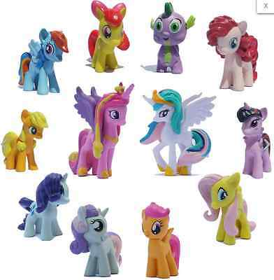 12pcs/Set Lot MY LITTLE PONY FRIENDSHIP IS MAGIC ACTION FIGURE Toy