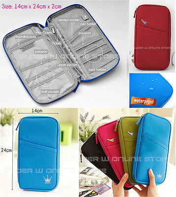 Travel Wallet Ticket Holder with RFID Blocking Covers for Passport Credit Cards 7