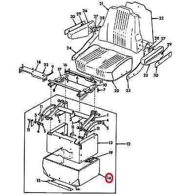 INTERNATIONAL IH 535449R2 Hydraulic Seat Shield 966 1066 ... on