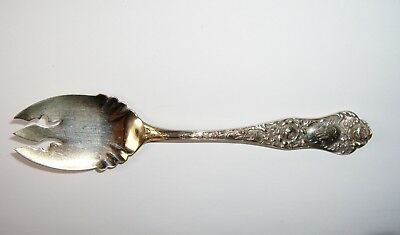Shiebler AMERICAN BEAUTY Sterling Ice Cream Dessert Forks, Roses 1897, Set 12 5