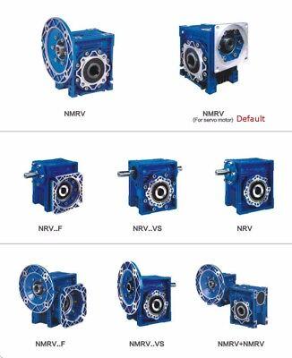 NEMA23 Speed Ratio 30:1 Worm Reducer NMRV030 RV030 Worm Gearbox Speed Reducer 6
