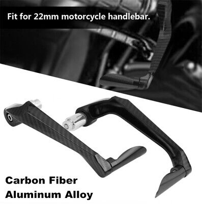 """2pcs Carbon Fiber Brake Clutch Lever Protector Guard For Motorcycle 22MM 7/8"""" 8"""