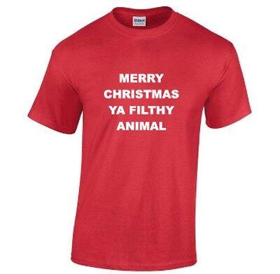MERRY CHRISTMAS YA FILTHY ANIMAL ELF SNOWMAN 3XL 4XL 5XLBIG SIZE XMAS T-Shirts