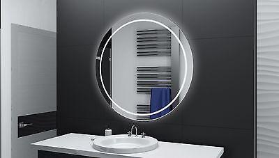 BADSPIEGEL RUND m LED Beleuchtung Badezimmerspiegel Bad Spiegel ...