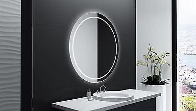 Badspiegel Rund M Led Beleuchtung Badezimmerspiegel Bad Spiegel