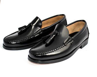 Herren Leder Anzug Schuhe Castellanos Penny Loafer Handmade Mokassins Budapester
