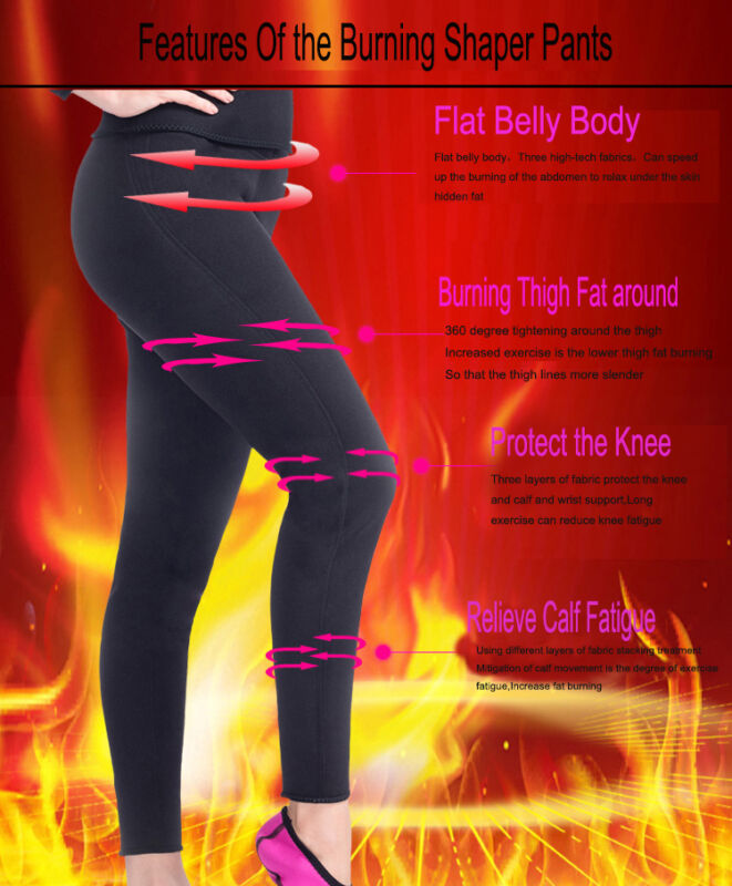 Sweat Sauna Body Shaper Slimming Pants Thermo Neoprene Gym Weight Loss USPS N075 5