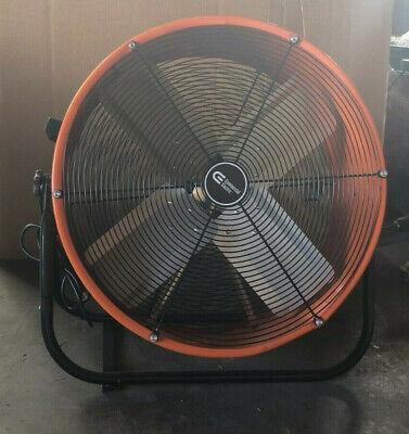 24 Inch Orange Direct Drive Industrial Grade Fan w/ 180 degree tilt 2