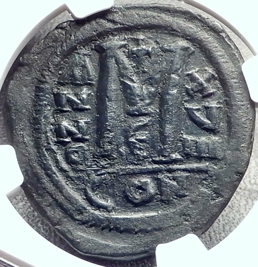 JUSTINIAN I the GREAT 527AD Follis Authentic Ancient Byzantine Coin NGC i68775 2