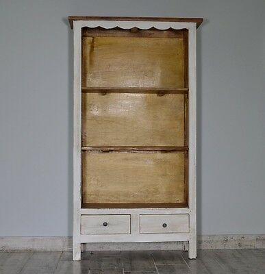 French White Bookcase Shelves Shelving Unit Storage Display Wood Vintage Retroxl