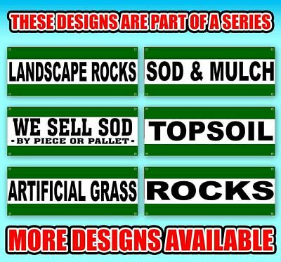 WE Sell SOD Mulch Rock Sand Extra Large 13 oz Heavy Duty Vinyl Banner Sign with Metal Grommets New Flag, Many Sizes Available Store Advertising