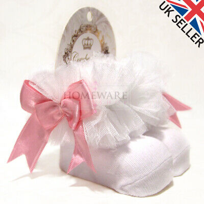 Girls Baby Tutu Socks Spanish Satin Bow Socks Soft Frilly Tulle Kids Ages 0-6 Y 2