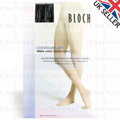 Bloch T0981L Ladies Dance Tights Full Footed Contour Soft Ballet Tap Ballroom Uk 2