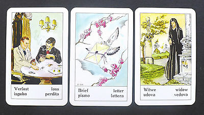 VINTAGE GYPSY FORTUNE Telling Oracle Cards Deck by Piatnik Zigeuner