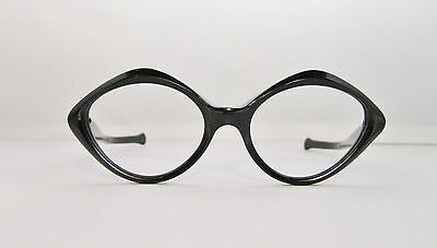 dd02d58d76b3 ... True Vintage Deadstock Shiny Black Eyeglass Sunglasses Frames Nos  Classic 2