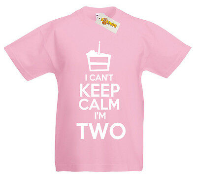 I Can/'t I/'m Two T-Shirt 2nd Birthday Xmas Gifts for 2 year old boys girls kids