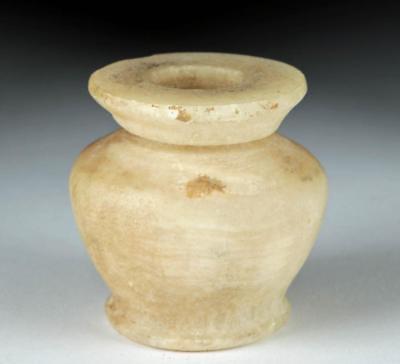Egyptian Middle Kingdom Alabaster Kohl Vessel Lot 12