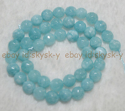 "6 mm Brazilian Aquamarine Gems Round Loose Beads 15/"" Strand"