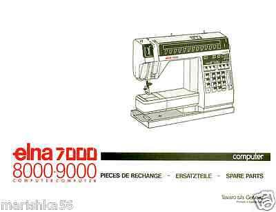ELNA 40 DIVA Service Manual Parts Book On CD PDF Bonus Magnificent Elna 9000 Sewing Machine