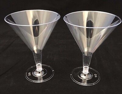 12 x Disposable Clear Plastic Martini Cocktail Champagne Wine Glasses 3
