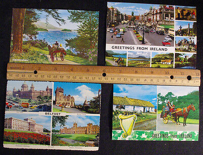 VINTAGE 70'S 80'S Lot Of 4 New World Travel Postcards Ireland - 1970'S  Unposted
