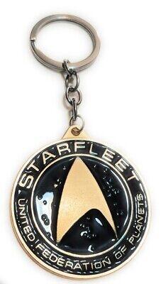 STAR TREK STARFLEET Metal Key chain Gold color Collectible gift decor US seller 3