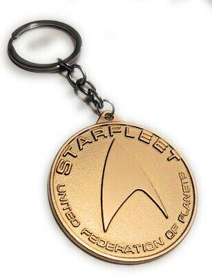 STAR TREK STARFLEET Metal Key chain Gold color Collectible gift decor US seller 5