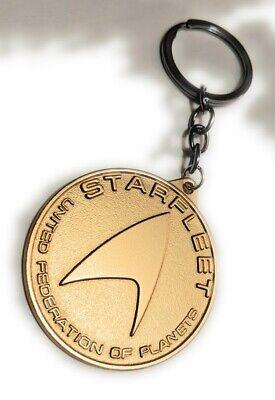 STAR TREK STARFLEET Metal Key chain Gold color Collectible gift decor US seller 2