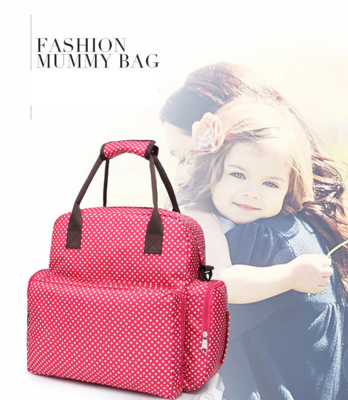 Large Capacity Mummy Bag Baby Diaper Nappy Maternity Changing Travel Backpack US 2