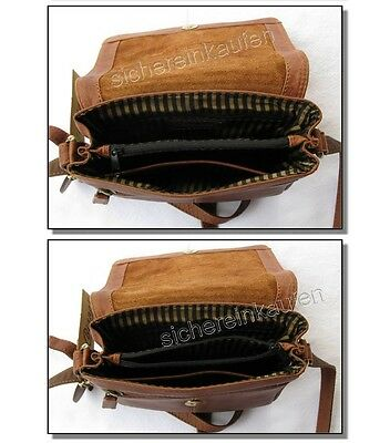LEDERTASCHE Bianci; Büffelleder-Tasche crossover Handtasche 8054-camel LEDER