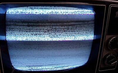 GE SCULPTURE VINTAGE TELEVISION MOD SPACE AGE RETRO 1979 BLACK & WHITE TV Mint 9