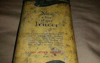 Vintage Langlois Stag After Shave Powder For Men/ Tin Can 2 7/8 Oz./ Half Full 7