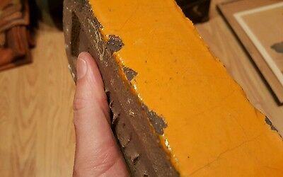 Antique Vintage Claycraft Red Orange Glazed Rare Building Brick Columbus Oh Ohio 4