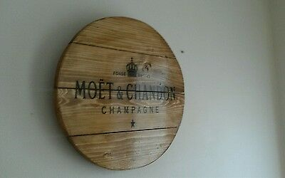 Hendricks gin round plaque wooden sign mancave shed bar pub 14inch