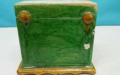 Antique Han Dynasty Style Ceramic Enamel Green Box 3