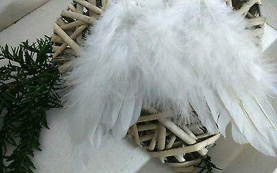Chic Antique Engelsflugel H26cm Flugel Federn Deko Weihnachten Weiss