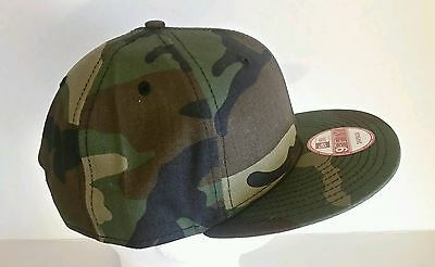 2055b8f06a2 ... New Era 9Fifty Flat Snapback Hat Cap Blank Camouflage Army Camo  Military 9FIFTY 3