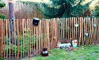 Staketenzaun Holzzaun Kastanienzaun Gartenzaun Zaunlatte imprägniert 50 90 120cm 7