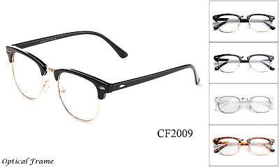 Classic Clear Lens Glasses Black Gold Aviator Retro Eyewear Men Women Vintage