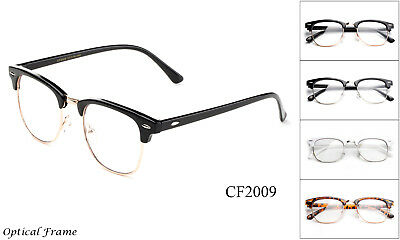 Clubmaster Clear Lens Glasses Black Gold Aviator Retro Eyewear Men Women Vintage