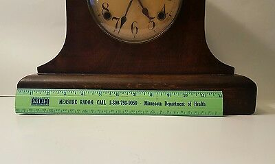 Large Antique Gilbert Mantle Clock w/key- Working 11