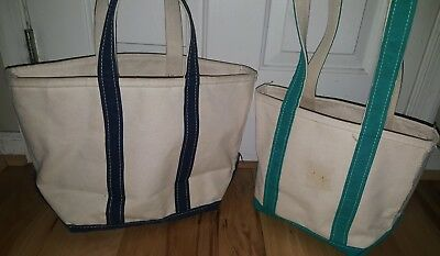 Swell Lot Of 2 Vtg Ll Bean Boat Tote Natural Canvas Bag Cjindustries Chair Design For Home Cjindustriesco