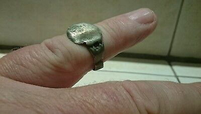 Lovely Roman crude Silver ring 2.46g 2