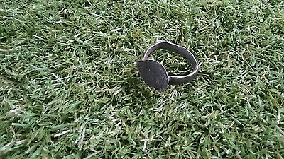 Roman Bronze ring professionaly cleaned on outside in showing patina wearable 2
