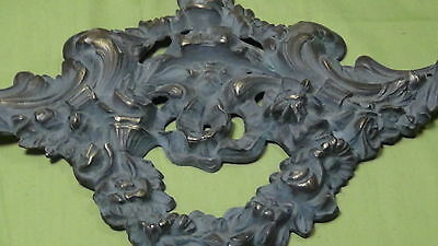 ANTIQUE 19 c. FRANCE  ORNAMENTAL  BRONZE FURNITURE  HEADER ORNAMENT 2